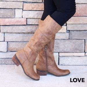 Shoes - New Brown Boots Side Zipper Winter Boot